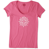 Women's Flower Power Smooth Tee
