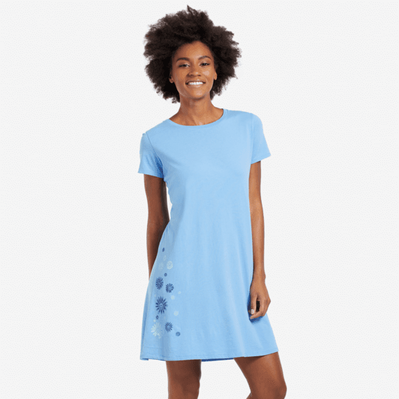 Women's Flower Spill Dress