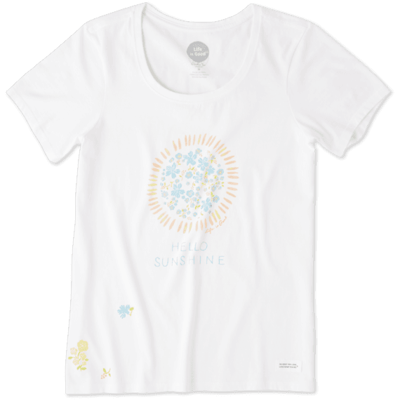 Women's Flower Sun Crusher Scoop Neck Tee