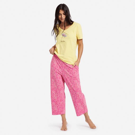 Women's Flower Toss Sleep Pants