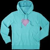 Women's Flower pattern heart Hooded Sweatshirt