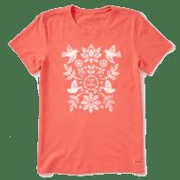 Women's Folk Art Garden Short Sleeve Tee