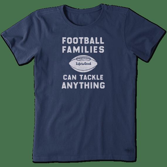 Women's Football Families Crusher Tee