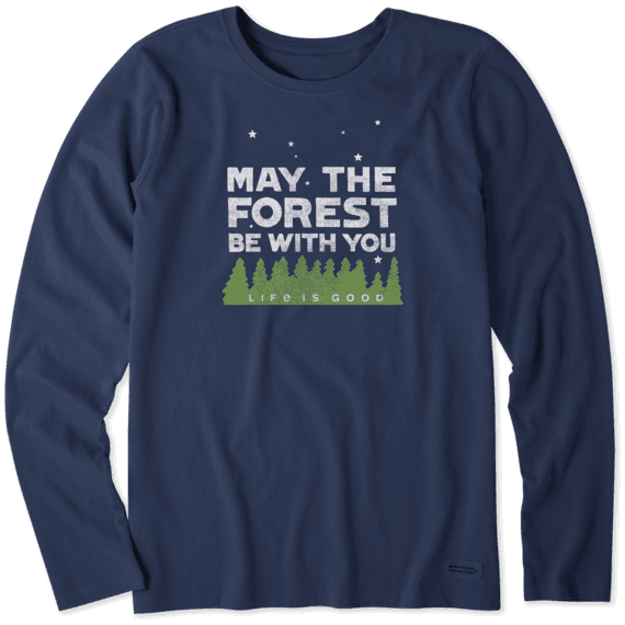Women's Forest Be With You Long Sleeve Crusher Tee