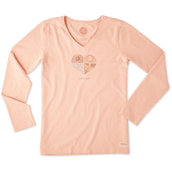 Women's Four Seasons Long Sleeve Crusher Vee