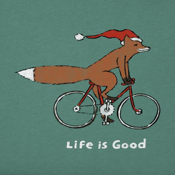 Women's Fox on a Bike Long Sleeve Crusher Vee