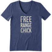 Women's Free Range Chick Cool Vee