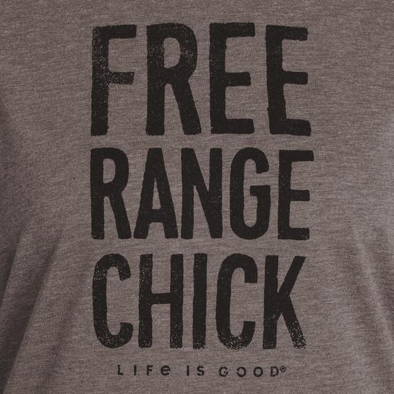 Women's Free Range Chick Ringer Cool Tee