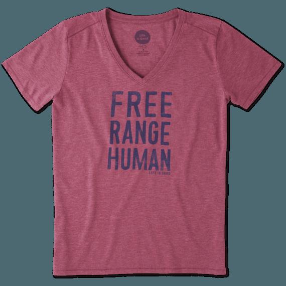 Women's Free Range Human Cool Vee