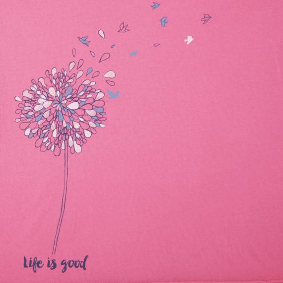 Women's Free Spirit Flower Long Sleeve Smooth Tee