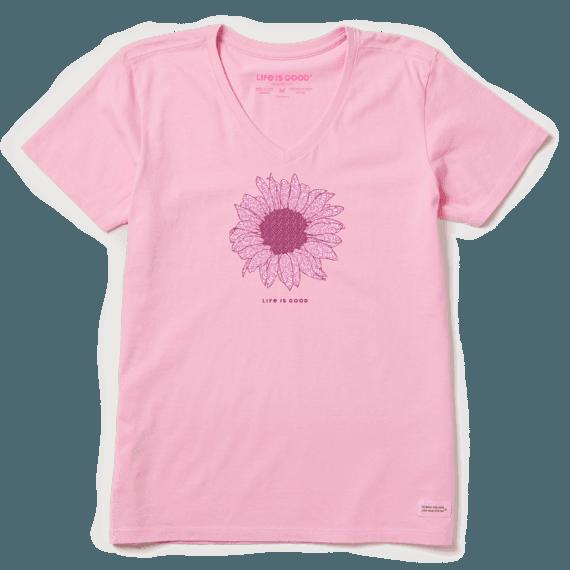 Women's French Sunflower Crusher Vee
