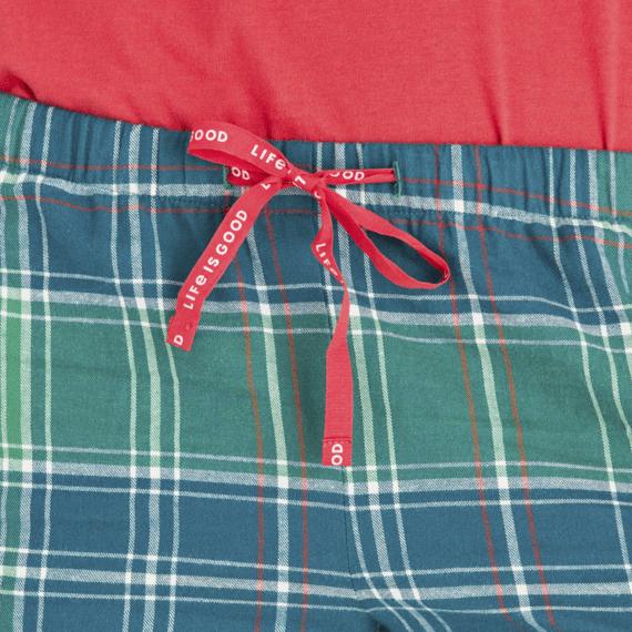 Women's Fresh Pine Plaid Classic Sleep Pant