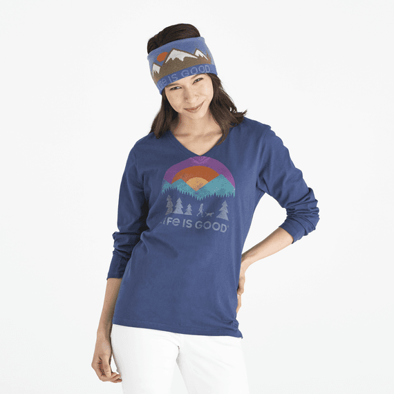 Women's Friends Walking Long Sleeve Crusher Vee