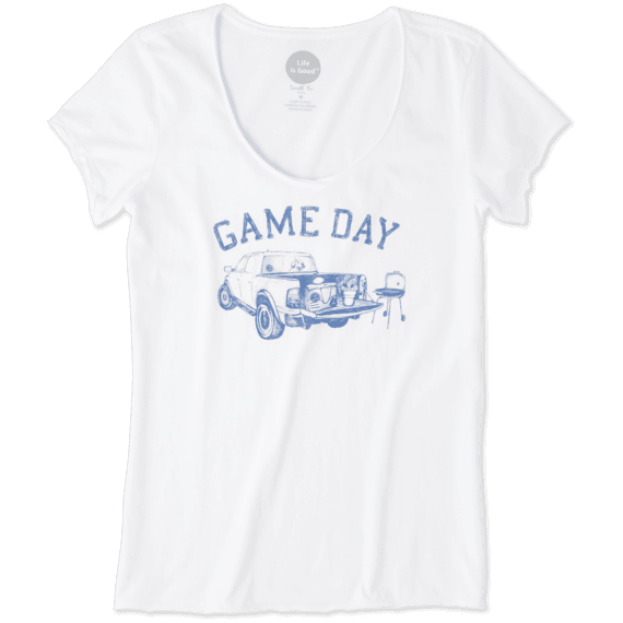 Women's Game Day Football Smooth Tee