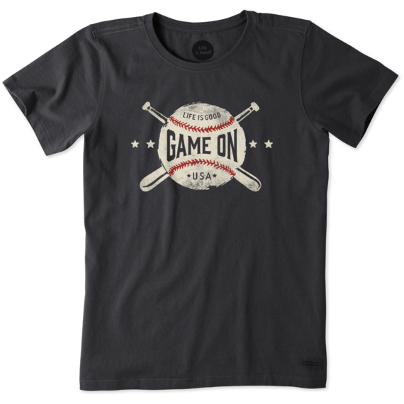 Women's Game On Baseball Crusher Tee