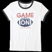 Women's Game On Football Ringer Tee