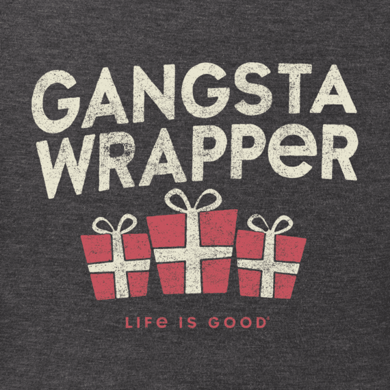 Women's Gangsta Wrapper Long Sleeve Crusher Tee