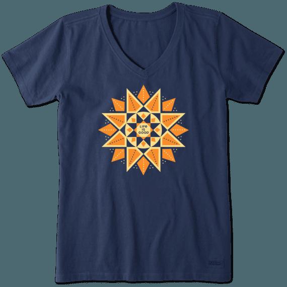 Women's Geometric Sun Crusher Vee