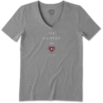 Women's Georgia Bulldogs All We Need Heart Cool Vee
