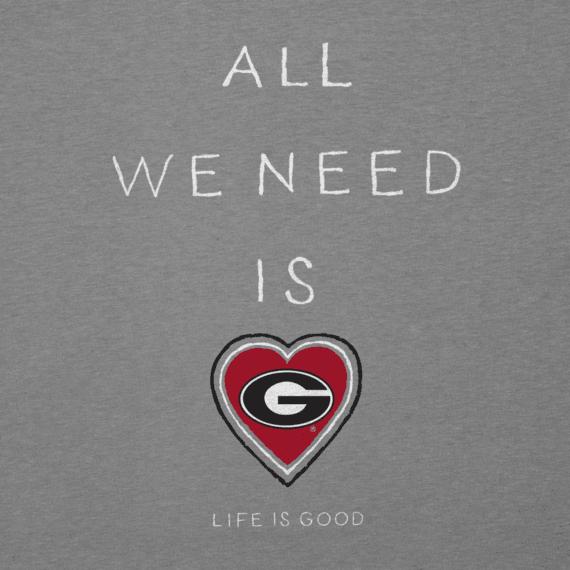 Women's Georgia Bulldogs All We Need Heart Cool Vee
