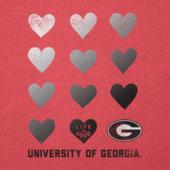 Women's Georgia Bulldogs Heart Stack Cool Vee