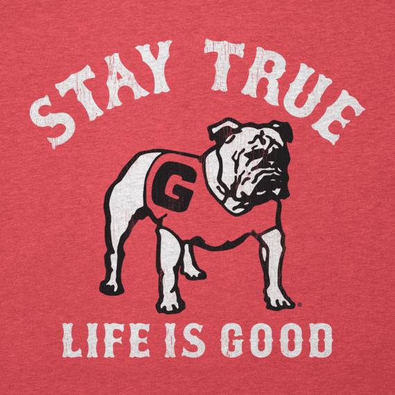 Women's Georgia Bulldogs Stay True Long Sleeve Cool Vee