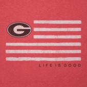 Women's Georgia Flag Cool Vee