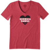 Women's Georgia Heart Knockout Cool Vee
