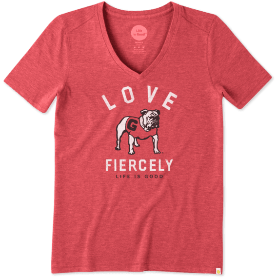 Women's Georgia Love Fiercely Cool Vee