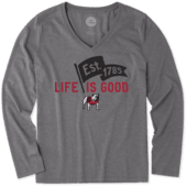 Women's Georgia Pennant Long Sleeve Cool Vee