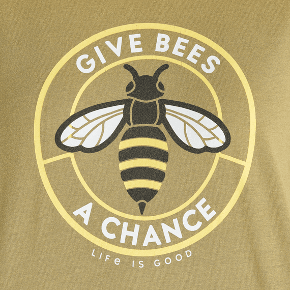 Women's Give Bees a Chance Coin Boxy Crusher Tee