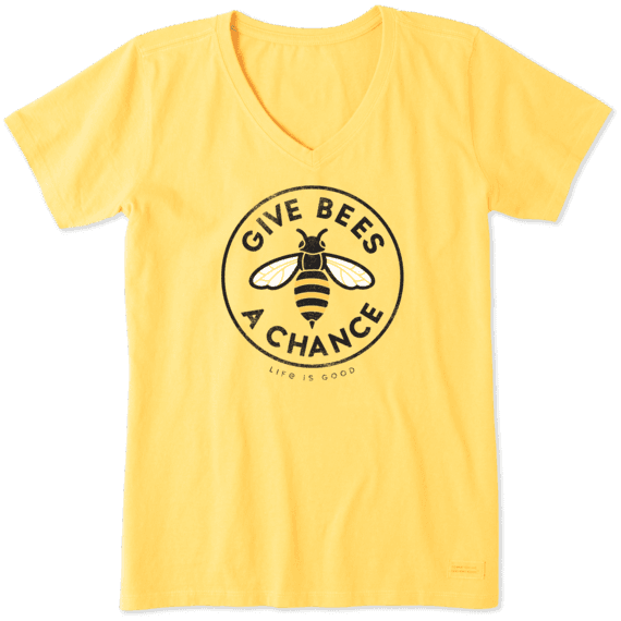 Women's Give Bees a Chance Crusher Vee