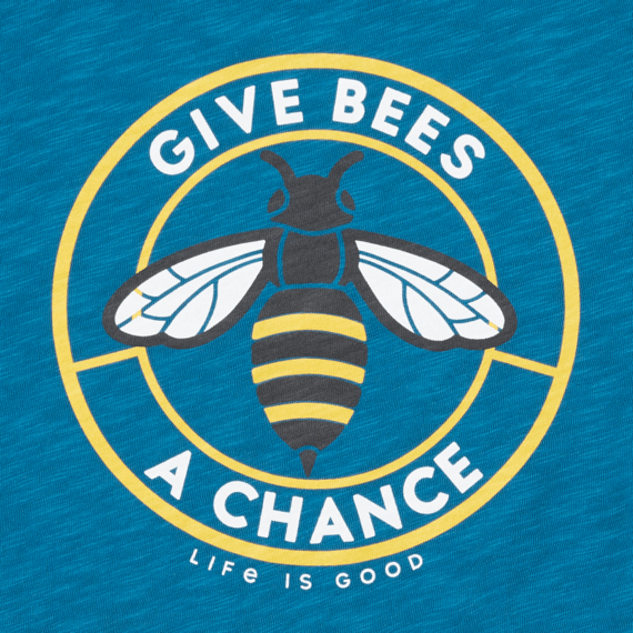 Women's Give Bees a Chance Textured Slub Tank