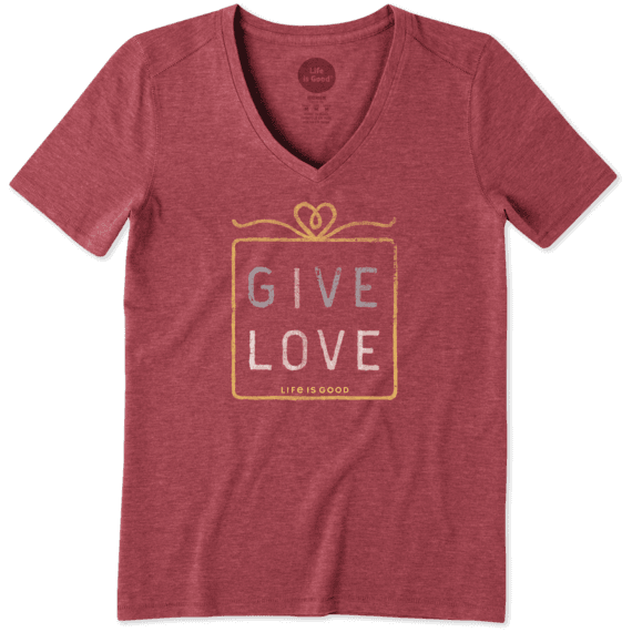 Women's Give Love Gift Cool Vee
