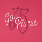 Women's Go Places Bike Long Sleeve Crusher Tee