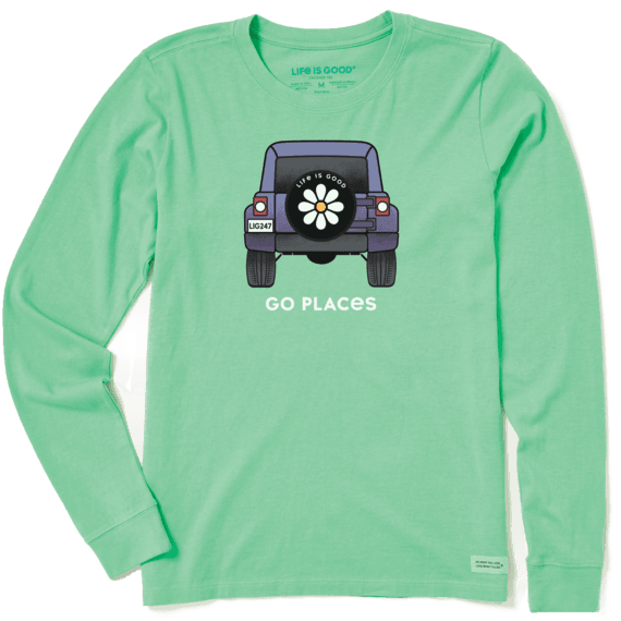 Women's Go Places Long Sleeve Crusher Tee