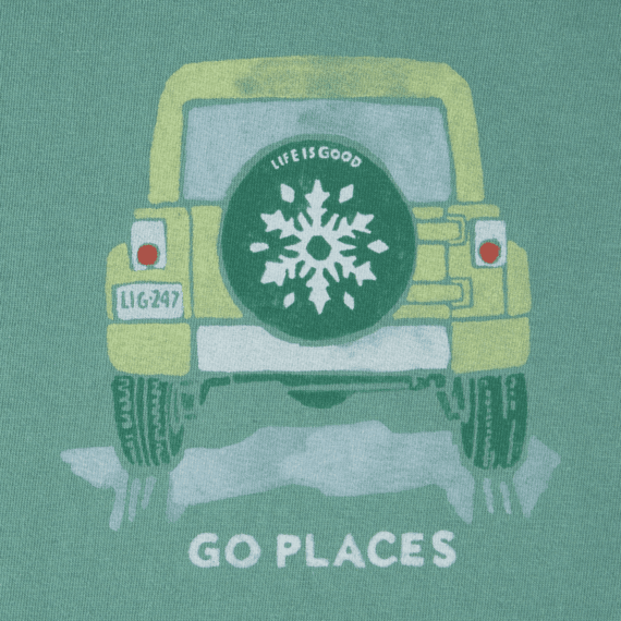 Women's Go Places Snowflake Crusher Vee