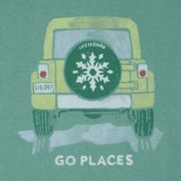 Women's Go Places Snowflake Crusher Vee