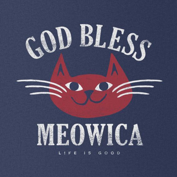Women's God Bless Meowica Long Sleeve Smooth Tee