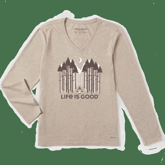 Women's Golden Camp Long Sleeve Crusher Vee