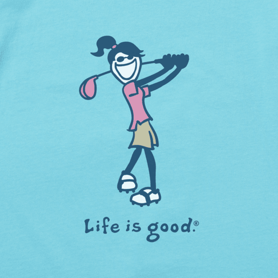 Women's Golf Jackie Vintage Crusher Tee