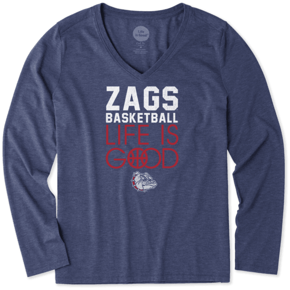 Women's Gonzaga Bulldogs Infinity Basketball Long Sleeve Cool Vee