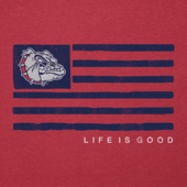 Women's Gonzaga Bulldogs Team Flag Cool Vee