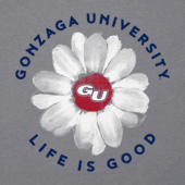 Women's Gonzaga Daisy Long Sleeve Cool Vee