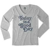 Women's Good Day Sun Long Sleeve Crusher Vee