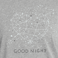 Women's Good Night Constellation Snuggle Up Relaxed Sleep Tee