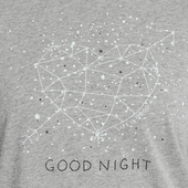 Women's Good Night Constellation Snuggle Up Relaxed Sleep Tee
