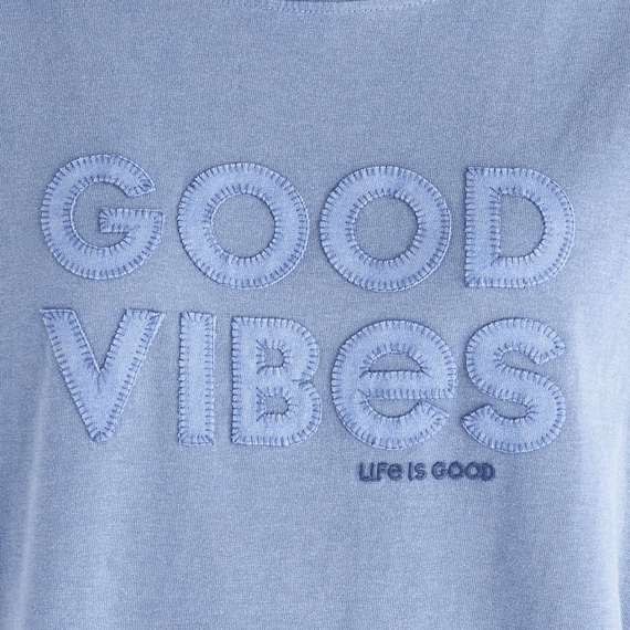 Women's Good Vibes Long Sleeve Ex-Boyfriend Crusher Tee