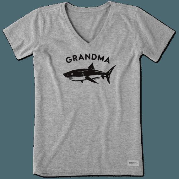 Women's Grandma Shark Crusher Vee