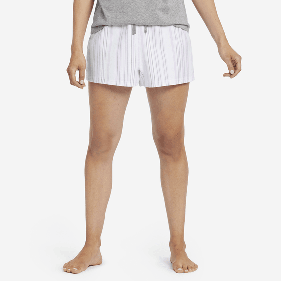 Women's Grape Bermuda Stripe Classic Sleep Boxer